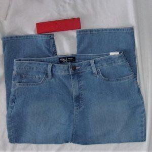 size 12 blue capris denim jeans womens pants short
